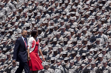 The U.S. Army Saluting Barack Obama