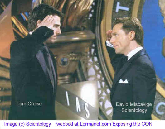 Picture of Tom Cruise saluting David Miscavige , AKA, The Asthmatic Dwarf